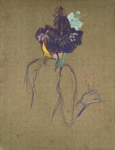 @Musée Toulouse-Lautrec – Jane Avril – 1893 – Huile sur carton – mTL156