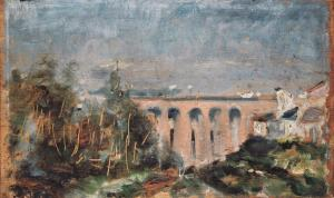 @Muséee Toulouse-Lautrec – Le Pont du Castelviel à Albi – 1880 – Huile sur bois - mTL 12