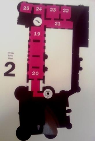 Plan musée Toulouse Lautrec - Albi - Niveau 2