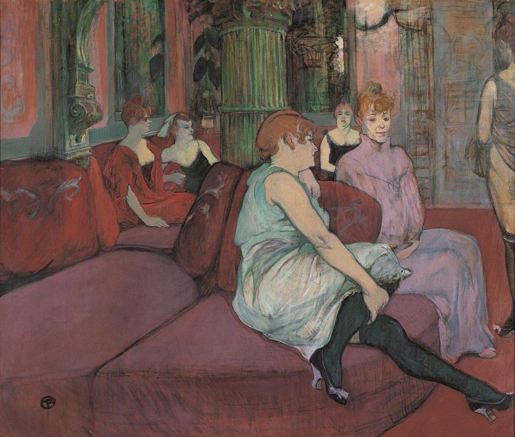 @Musée Toulouse-Lautrec - Le Salon de la Rue des Moulins - 1894 - Huile sur toile